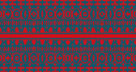 Seamless African pattern. Ethnic carpet with chevrons. Tribal vector ornament. Aztec style. Geometric mosaic on the tile, majolica. 스톡 콘텐츠 - 151102990