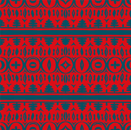 Seamless African pattern. Ethnic carpet with chevrons. Tribal vector ornament. Aztec style. Geometric mosaic on the tile, majolica. 스톡 콘텐츠 - 151102996
