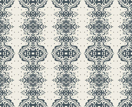 Ikat seamless pattern. Border with snowflakes. Openwork lace. New year Christmas background. Vector tie dye shibori print with stripes and chevron. Ink textured japanese background. Bohemian fashion. Vettoriali