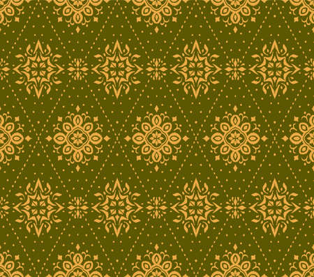 Ikat seamless pattern. Border with snowflakes. Openwork lace. New year Christmas background. Vector tie dye shibori print with stripes and chevron. Ink textured japanese background. Bohemian fashion. Stock Illustratie