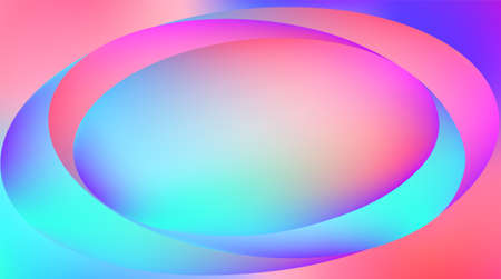 Holographic Vector Background. Iridescent Foil. Glitch Hologram. Pastel neon rainbow. Ultraviolet metallic paper. Template for presentation. Cover to web design. Abstract colorful gradient. Ilustração