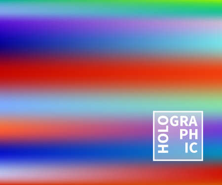 Holographic Vector Background. Iridescent Foil. Glitch Hologram. Pastel neon rainbow. Ultraviolet metallic paper. Template for presentation. Cover to web design. Abstract colorful gradient. Illustration