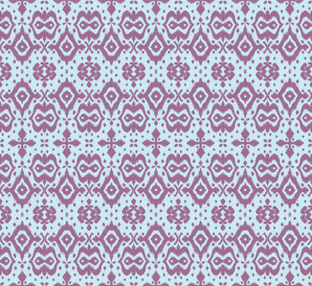 Lace border. Ikat seamless pattern. Vector tie dye shibori print with stripes and chevron. Ink textured japanese background. Ethnic fabric. Bohemian fashion. African creative. Damask rug.