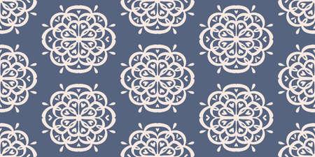 Oriental vector damask pattern. Talavera pottery. Azulejos portugal. Turkish ornament. Spanish porcelain. Ceramic tableware, folk print. Ethnic background. Mediterranean wallpaper.  Talavera pottery. 矢量图像