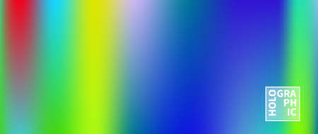 Holographic Vector Background. Iridescent Foil. Glitch Hologram. Pastel neon rainbow. Ultraviolet metallic paper. Template for presentation. Cover to web design. Abstract colorful gradient. Иллюстрация