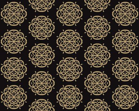 Oriental damask pattern.