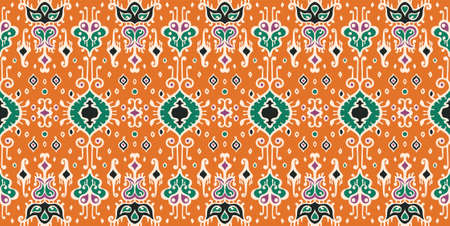 geometric folklore ornament. Oriental damask pattern. Ancient art of Arabesque. Tribal ethnic texture. Spanish motif on the carpet. Aztec style. Indian rug. Gypsy, Mexican embroidery.
