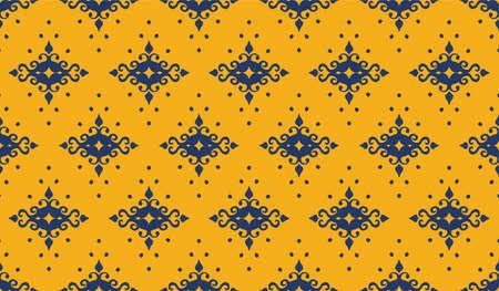 Oriental vector damask pattern. Talavera pottery. Azulejos portugal. Turkish ornament. Spanish porcelain. Ceramic tableware, folk print. Ethnic background. Mediterranean wallpaper.  Talavera pottery. Vectores