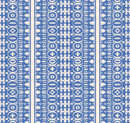 Seamless African pattern. Ethnic carpet with chevrons.