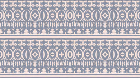 Seamless African pattern. Ethnic carpet with chevrons. Tribal vector ornament. Aztec style. Geometric mosaic on the tile, majolica.