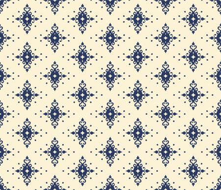 Oriental vector damask pattern. Talavera pottery. Azulejos portugal. Turkish ornament. Spanish porcelain. Ceramic tableware, folk print. Ethnic background. Mediterranean wallpaper.  Talavera pottery. 向量圖像