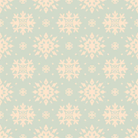 Christmas drawing with snowflakes. The Nordic style. Folk print with flakes. Scandinavian, Portuguese ornament. Spanish porcelain. Oriental damask. Ethnic motif. Ikat geometric folklore background. 免版税图像 - 157997460
