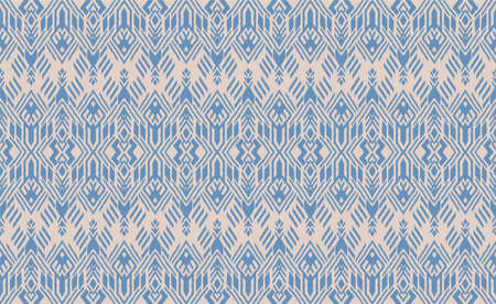 Ikat geometric folklore ornament. Oriental vector damask pattern. Ancient art of Arabesque. Tribal ethnic texture. Spanish motif on the carpet. Aztec style. Indian rug. Gypsy, Mexican embroidery. 矢量图像