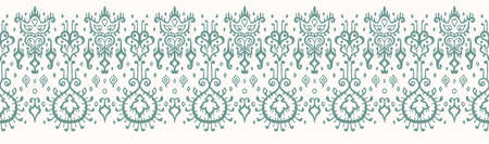 Ikat geometric folklore ornament. Oriental vector damask pattern. Ancient art of Arabesque. Tribal ethnic texture. Spanish motif on the carpet. Aztec style. Indian rug. Gypsy, Mexican embroidery. 일러스트