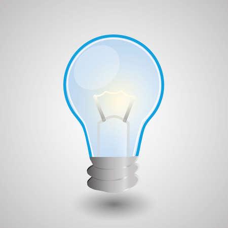 bulb light idea Vector
