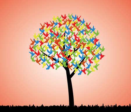 tree of birds