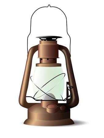 lámpara de petróleo Ilustración de vector