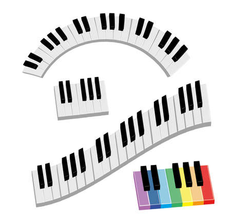 piano keyboard Stock Vector - 14168793