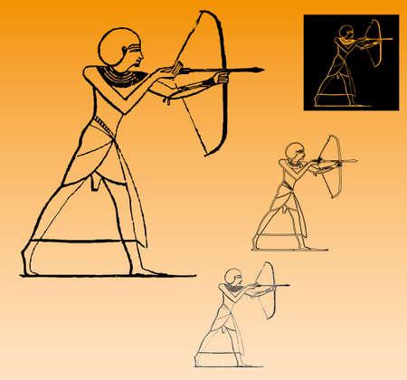 Egyptian archer Vector
