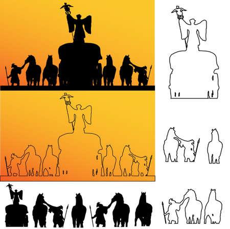 antigua grecia: Los soldados romanos Silueta