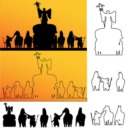 Roman soldiers Silhouette Vector
