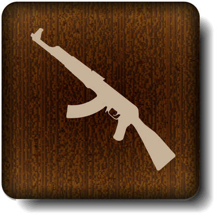 automatic rifle: Weapons icon Illustration