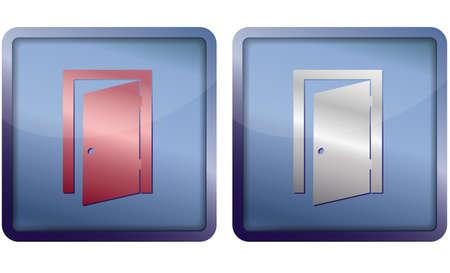 push room: exit door icon Illustration