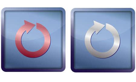 refresh icon Stock Vector - 14921345