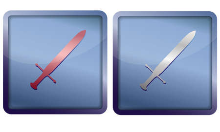 sword icon Stock Vector - 14921350