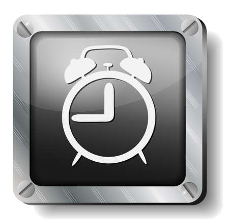 steel alarm icon Vector