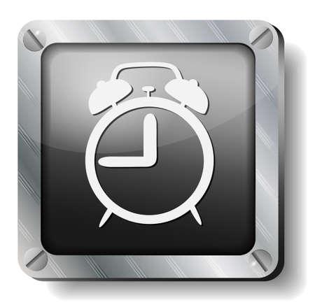 steel alarm icon Vector