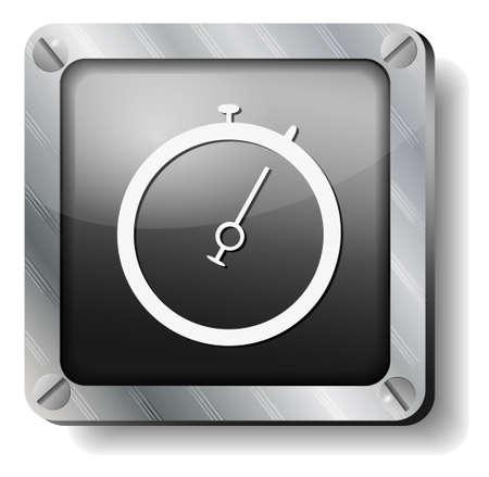 steel stopwatch Stock Vector - 14988277