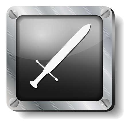 shrapnel: steel sword icon Illustration