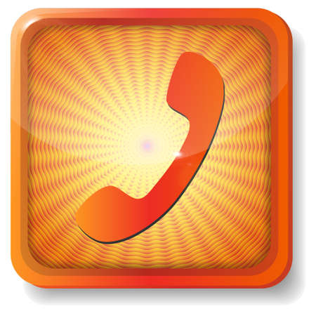 closet communication: orange handset icon Illustration