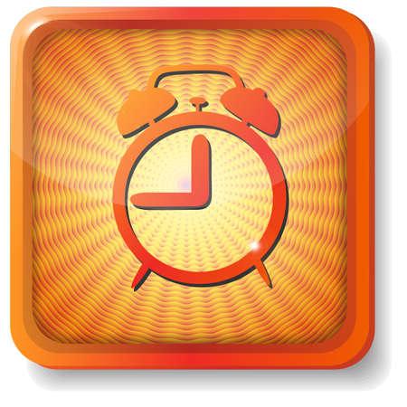 orange alarm icon Stock Vector - 15419650