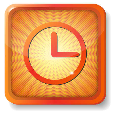 orange clock face icon Stock Vector - 15419649