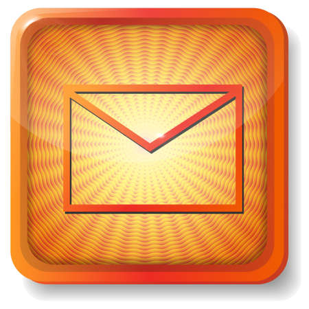 orange envelope icon Stock Vector - 15419486