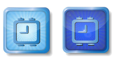 blue radial alarm clock icon Stock Vector - 15437747