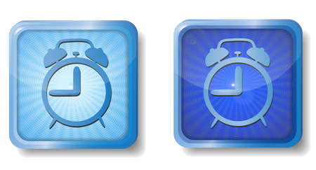 blue radial alarm icon Stock Vector - 15437658