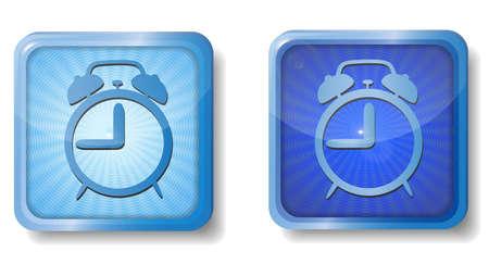 blue radial alarm icon Stock Vector - 15437658