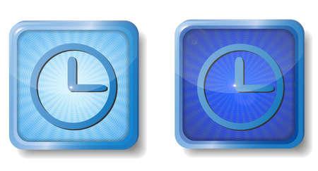 blue radial clock face icon Stock Vector - 15437745