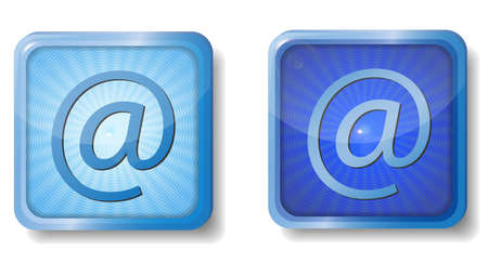 blue radial e-mail icon Stock Vector - 15437651