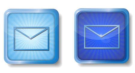 blue radial envelope icon Stock Vector - 15437655