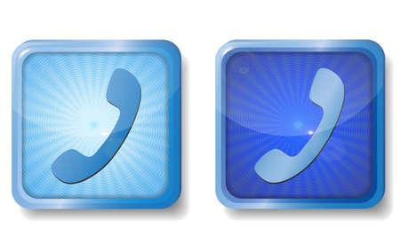 closet communication: blue radial handset icon