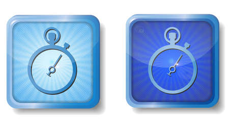 blue radial stopwatch icon Illustration
