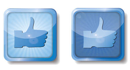 blue radial thumb up Stock Vector - 15437646