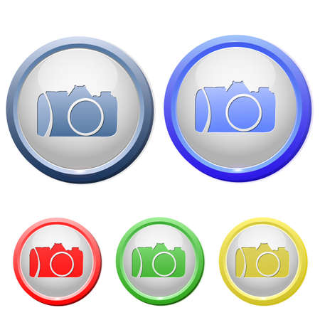 circle camera icon Stock Vector - 15753200