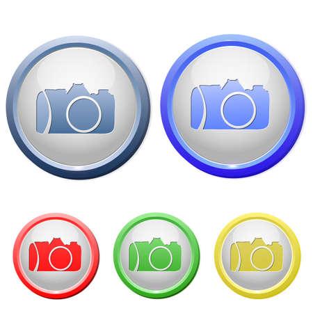 circle camera icon Stock Vector - 15753200