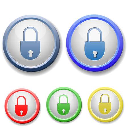 circle closed lock icon