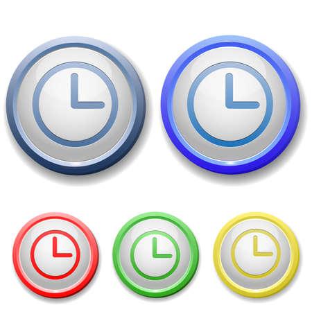 circle clock face icon Stock Vector - 15753201